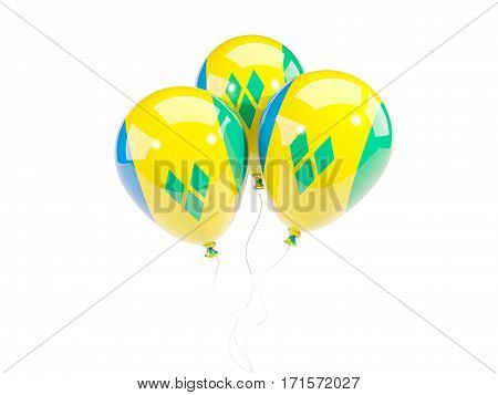 Three Balloons With Flag Of Saint Vincent And The Grenadines