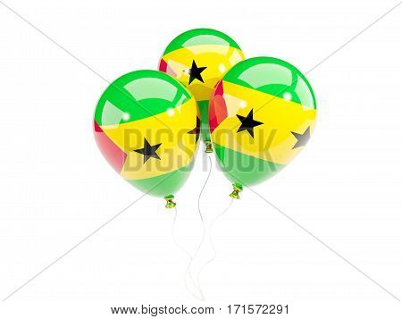 Three Balloons With Flag Of Sao Tome And Principe