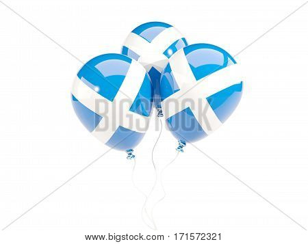 Three Balloons With Flag Of Scotland