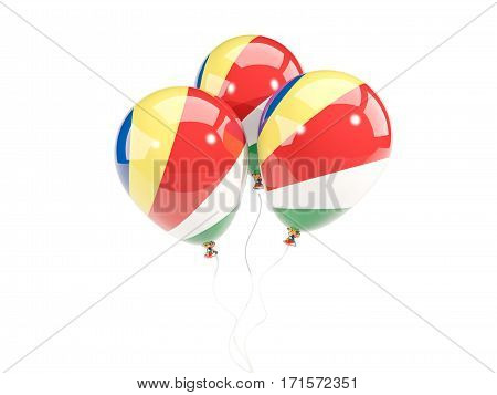 Three Balloons With Flag Of Seychelles