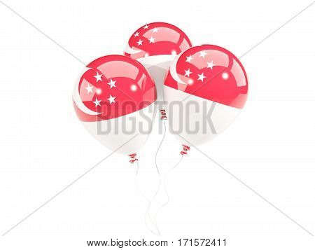 Three Balloons With Flag Of Singapore