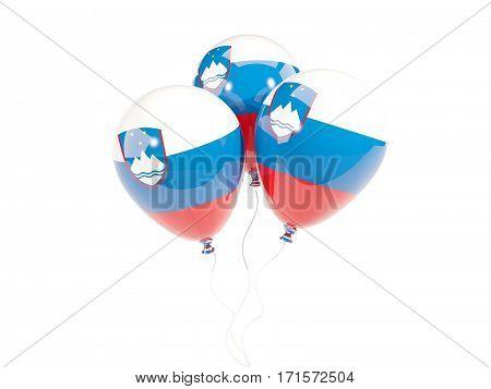 Three Balloons With Flag Of Slovenia