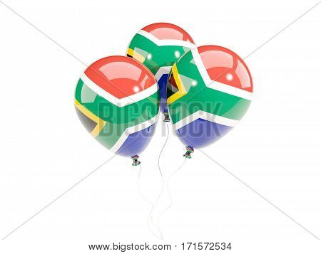 Three Balloons With Flag Of South Africa