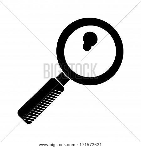 search discovery observe loupe pictogram vector illustration eps 10