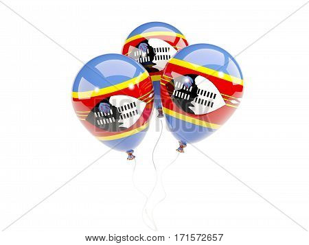 Three Balloons With Flag Of Swaziland