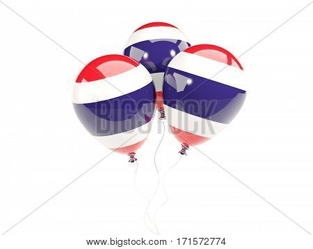 Three Balloons With Flag Of Thailand
