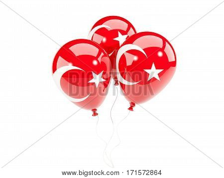 Three Balloons With Flag Of Turkey