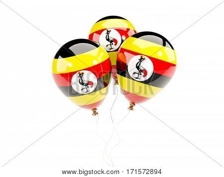 Three Balloons With Flag Of Uganda