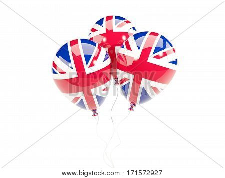 Three Balloons With Flag Of United Kingdom