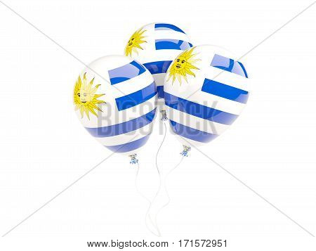Three Balloons With Flag Of Uruguay