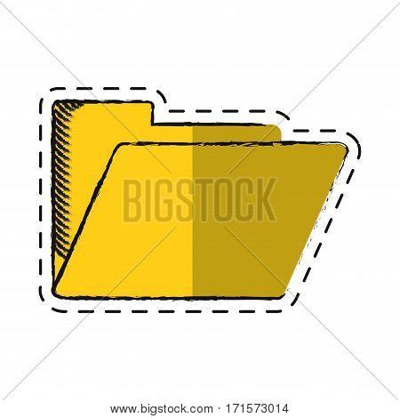 cartoon folder file document archive icon vector illustration eps 10