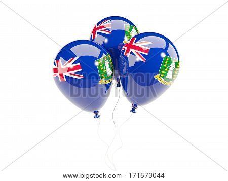 Three Balloons With Flag Of Virgin Islands British