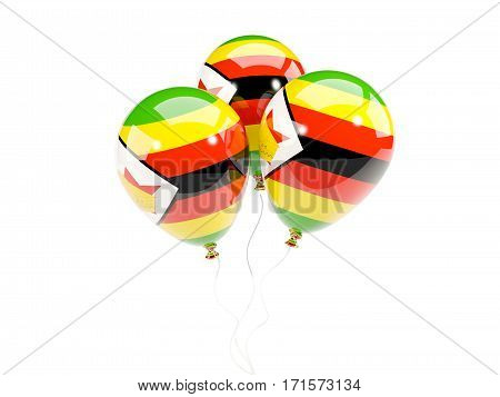 Three Balloons With Flag Of Zimbabwe