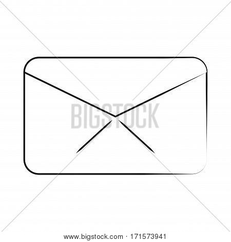 message envelope email communication thin line vector illustration eps 10