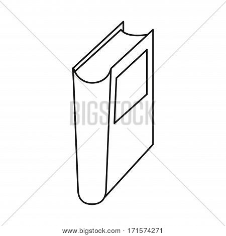 book library read learn thin line vector illustration eps 10