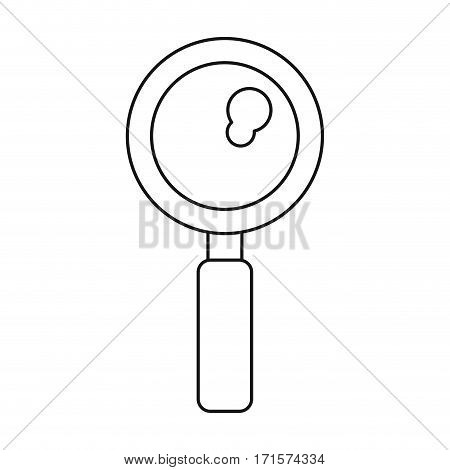 search discovery observe loupe icon thin line vector illustration eps 10