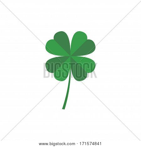 Four leaf clover vector icon. Vector illustration