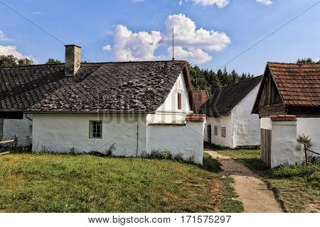 Historic houses of central Bohemia farm complex