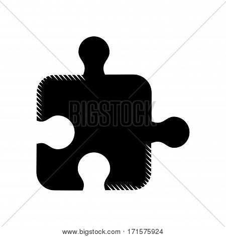 puzzle strategy creativity abstract pictogram vector illustration eps 10
