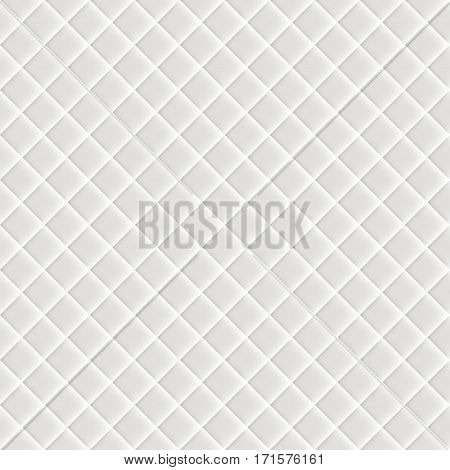 Seamless pattern. Shiny fabric, rippled texture, white color silk, colorful vintage style background