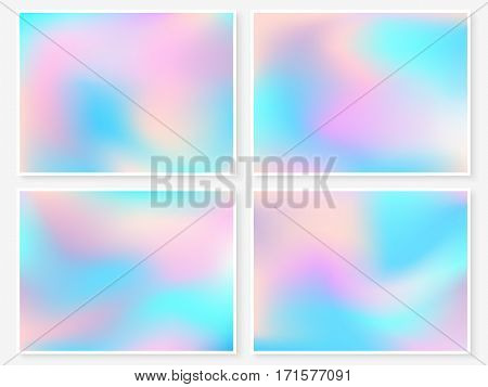 Holographic Backgrounds Set Pastel Smooth Blur Wallpapers 2