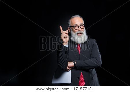 Senior Businessman In Eyeglasses