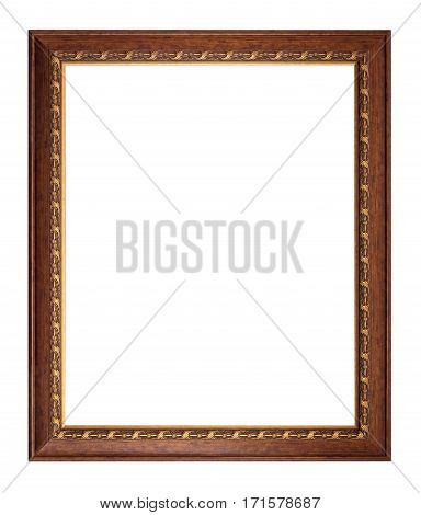 Picture antique frame isolated on white background