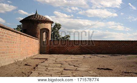 Fortification of Spilberk castle in Brno, Czech republic