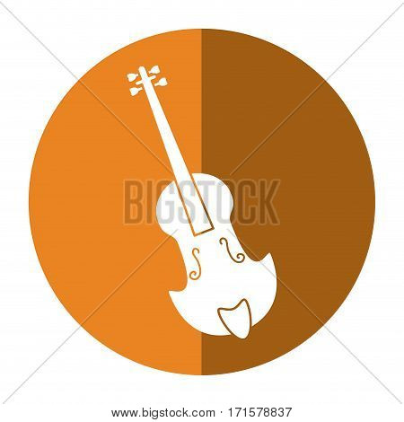 fiddle classical music instrument shadow vector illustration eps 10