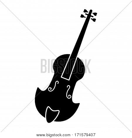 fiddle classical music instrument pictogram vector illustration eps 10
