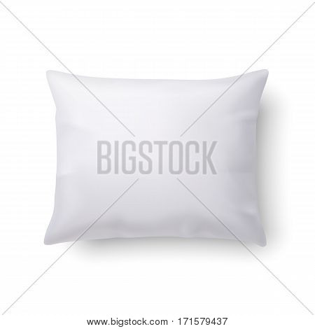 Close Up of a Classic Pillow Isolated on White Background