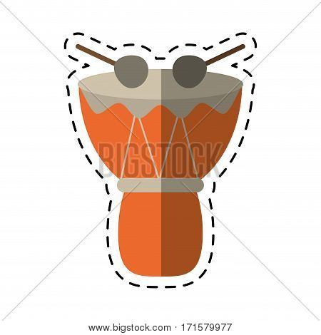 cartoon drum djembe percussion african vector illustration eps 10