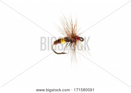 Bee-like Fishing Lure Or Trout Fly Cut Out