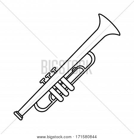 trumpet musician instrument icon thin line vector illustration eps 10
