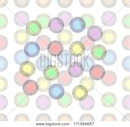 colored balls of different transparent yellow, blue, purple and green colors