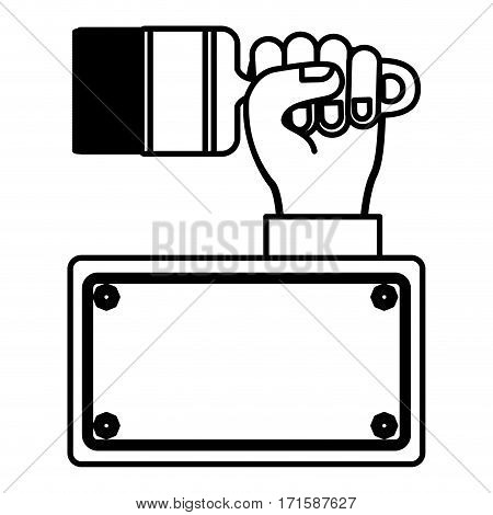 paintbrush in the hand icon stock, vector illustration design