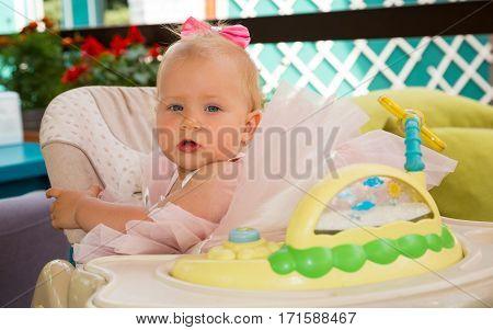 Happy pretty girl kid celebrate her birthday party. Positive human emotions feelings joy.