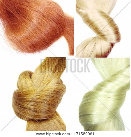 highlight hair texture abstract fashion style collage