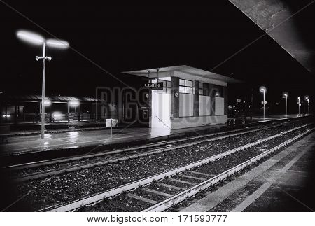 - Sleeping Train Station - The beauty and the loneliness of a train station during night time.