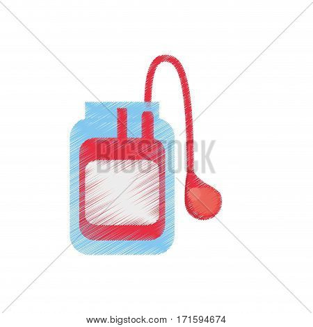 drawing medical blood bag donation vector illustration eps 10