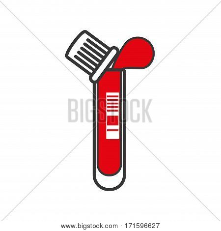 test tube with drop blood laboratory vector illustration eps 10