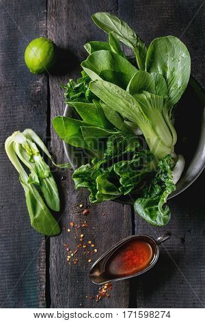 Assortment Of Raw Bok Choy