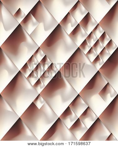 Abstract gold rose metal seamless pattern background. Vector illustration metallic glowing surface geometric ornament.