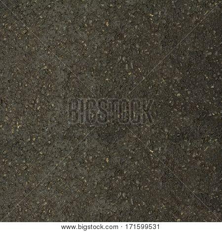 Close detail of wet black asphalt background