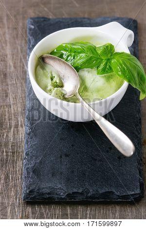 Basil Icse Cream