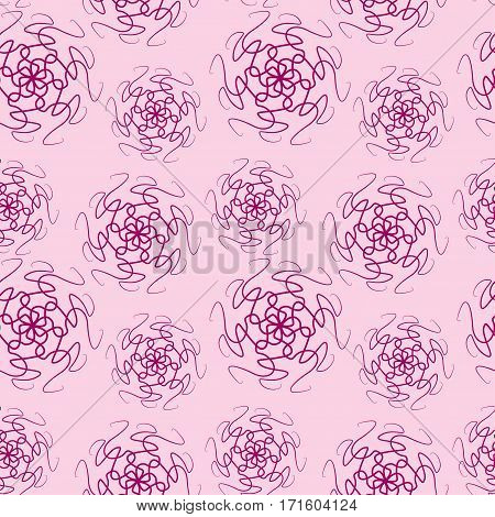 Seamless pattern of simple mandala. Template for carpet, shawl, wallpaper, embroidery Vector