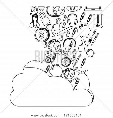 database hosting icon stock image, vector illustration design