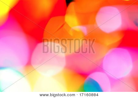 Bright colorful blurry background