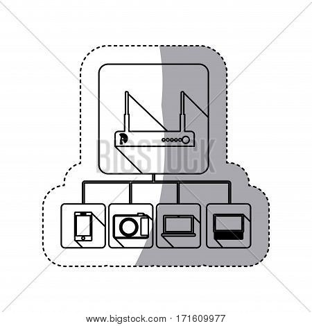 video beam icon stock, vector illustration design