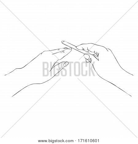Vector Hands Nail Vector Photo Free Trial
